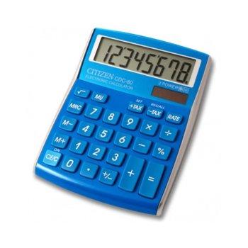 Калкулатор Citizen CDC-80, oсновни математически действия, син image