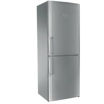 Хладилник с фризер Hotpoint-Ariston HA70BI31S, клас F, 462 л. общ обем, свободностоящ, 364 kWh/годишно, No Frost, рафтове за бутилки, сребрист image