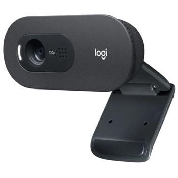 Уеб камера Logitech C505e (960-001372), микрофон, 1280x720/30FPS, USB, черна image