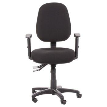 Работен стол Carmen DANILA, дамаска, полипропилен, черен image