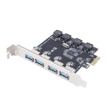 Контролер Orico PNU-4U, от PCIe към 4x USB Type A (ж) image
