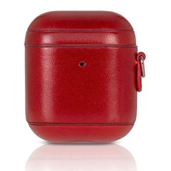 Защитен калъф Torrii Leather Case за Apple Airpods / Apple Airpods 2, естествена кожа, червен image