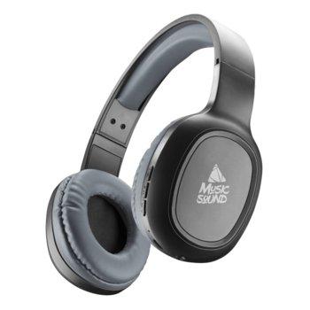 Слушалки Cellularline Music Sound, безжични, микрофон, Bluetooth, сиви image