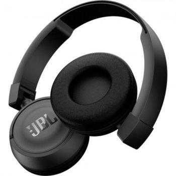 Слушалки JBL T450BT, безжични, микрофон, до 11 часа работа, черни image