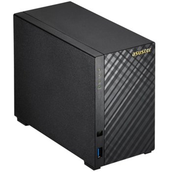 Мрежови диск (NAS) ASUSTOR AS1002T, дву-ядрен Marvell Armada 385 1GHz, без твърд диск (2x SATA), 512MB RAM, 2x USB 3.0 image