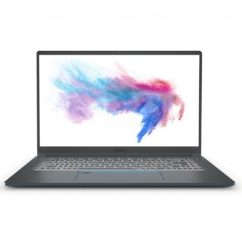"Лаптоп MSI PRESTIGE 15 A10SC-271XBG4 (9S7-16S311-271)(сив), шестядрен Comet Lake Intel Core i7-10710U 1.10/4.70 Ghz, 15.6"" (39.62 cm) Full HD Anti-Glare IPS Display & GF GTX 1650 Max-Q 4GB, (HDMI), 16GB DDR4, 512GB SSD, 1x USB 3.2 Type C, No OS image"