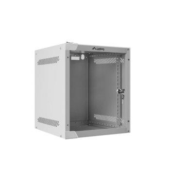 "Комуникационен шкаф Lanberg WF10-2306-10S, 10"", 6U, 280 x 310 x 336 mm, сив  image"