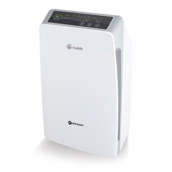 Пречиствател на въздух Rohnson R-9400, 180 m3/h дебит на пречистен въздух, йонизатор с негативни йони, 8-часов цифров таймер, дистанционно, бял image