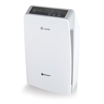 Пречиствател на въздух Rohnson R 9400, 180 m3/h дебит на пречистен въздух, йонизатор с негативни йони, 8-часов цифров таймер, дистанционно, бял image