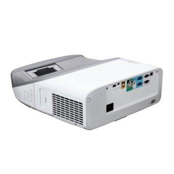 Проектор ViewSonic PS700W, DLP, Ultra Short Throw, WXGA (1280x800), 10000:1, 3300 lm, VGA, HDMI, USB 2.0, RJ45, RS232 image