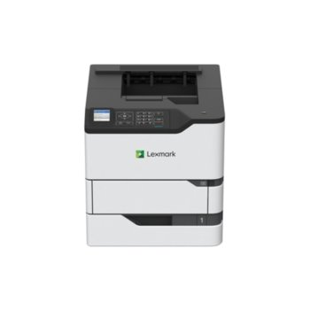 "Лазерен принтер Lexmark MS825dn, монохромен, 1200 x 1200 dpi, 66 стр/мин, LAN1000, USB, двустранен печат, A4, 2.4"" (6.096 cm) цветен дисплей image"