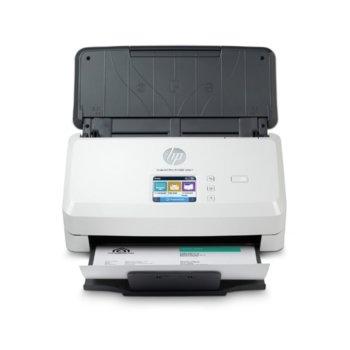 Скенер HP ScanJet Pro N4000 snw1, 600 dpi, A4, двустранно сканиране, ADF, LAN, Wi-Fi USB, бял image