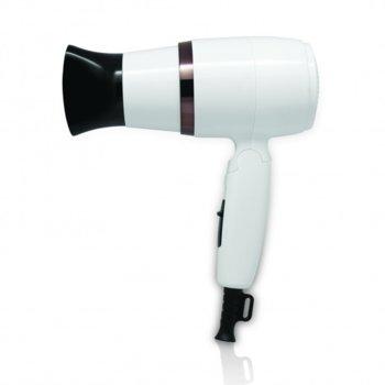 Сешоар със сгъваема дръжка SAPIR SP 1100 CU, 1600W, Концентратор, Студен въздух, Бял image