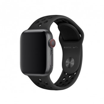 Каишка за смарт часовник Apple Watch (40mm) Anthracite/Black Nike Sport Band - S/M & M/L, черна image