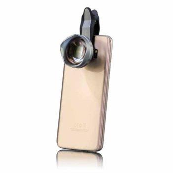 Комплект фокусиращи лещи за Samsung Galaxy S7 Edge/S7/A5/Tab A 10.1/Tab A 7.0/Apple iPhone 6S/6/6S Plus/6 Plus/iPad/iPad Pro/LG G5/Microsoft Lumia 950/Lumia 950 XL, увелечение 3x, щипка за закачане  image