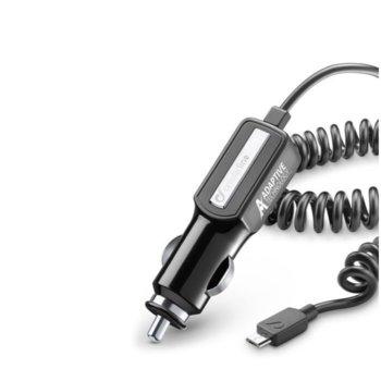 Зарядно устройство Cellular Line Adaptive, 2 А, micro USB, за кола, свъвместимост с: Samsung Galaxy S7, S7 Edge, S5, S6, S6 Edge, Note 5 и други устройства с адаптивно зареждане image