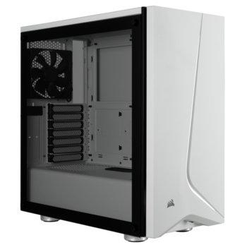 Кутия Corsair Carbide Series SPEC-06 (CC-9011145-WW), ATX, 2x USB 3.0, 2x 3.5mm жак, прозорец, бяла, без захранване image