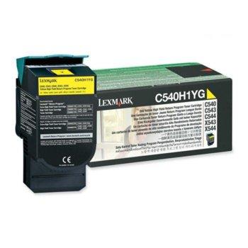 КАСЕТА ЗА LEXMARK OPTRA C 540 series/X540 series - Yellow - Return program cartridge High Yield - P№ C540H1YG - заб.: 2000k image