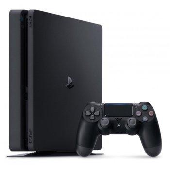 Конзола PlayStation 4 Slim, 500GB HDD, черна image
