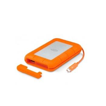 """Твърд диск 2TB, LaCie Rugged STEV2000400, външен, 2.5"""" (6.35 cm), Thunderbolt, USB 3.0, оранжев image"""