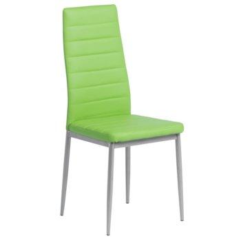 Трапезен стол Carmen, 310, елегантна визия, ябълково зелен image