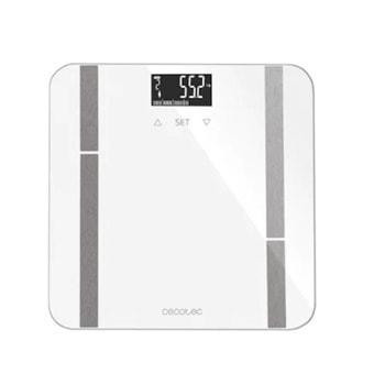 Електронен кантар Cecotec Surface Precision 9400 Full Healthy, капацитет 180 кг, LCD дисплей, FourPrecision технология с 4 сензора, TenBIA метод за измерване, UserClever идентификация на до 10 потребители, бял image