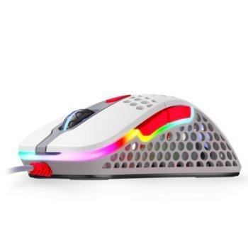 Мишка Xtrfy M4 Retro RGB, оптична (16000 dpi), USB, бяла, RGB подсветка, гейминг image