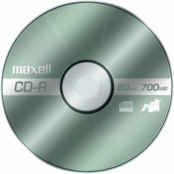 Оптичен носител CD-R80 700MB, Maxell, 1 бр. image