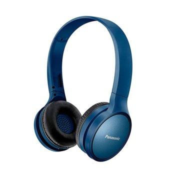 Слушалки Panasonic RP-HF410BE-A, безжични, Bluetooth, микрофон, олекотен дизайн, до 24 часа време на работа, сини image