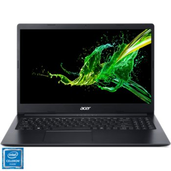 "Лаптоп Acer Aspire 3 A315-34-C8F9 (NX.HE3EX.01Z), четириядрен Gemini Lake Intel Celeron N4100 1.1/2.4 GHz, 15.6"" (39.62 cm) Full HD Anti-Glare Display, (HDMI), 8GB DDR4, 128GB SSD, 1x USB 3.1, No OS image"