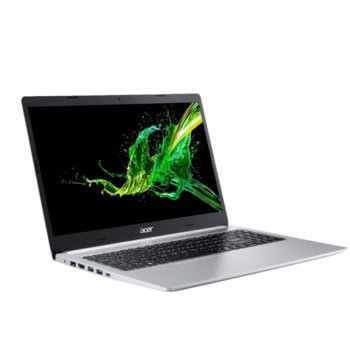 "Лаптоп Acer Aspire 5 A515-54G-342M (NX.HV5EX.002), (сребрист), двуядрен Comet Lake Intel Core i3-10110U 2.1/4.1 GHz, 15.6"" (39.62 cm) Full HD IPS Anti-Glare Display & MX350 2GB, (HDMI), 4GB DDR4, 512GB SSD, 1x USB-C, Linux image"
