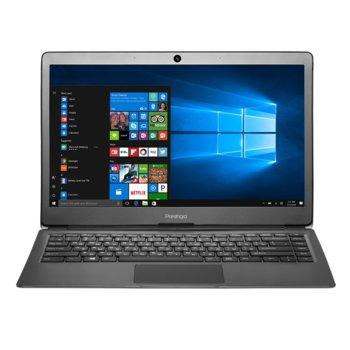 "Лаптоп Prestigio SmartBook 133S (PSB133S01ZFP_DG_BG)(сив), двуядрен Apollo Lake Intel Celeron N3350 1.1/2.4 GHz, 13.3"" (33.78 cm) Full HD IPS Anti-Glare Display, (mHDMI), 3GB, 32GB eMMC, 2x USB 3.0, Windows 10, 1.4 kg image"