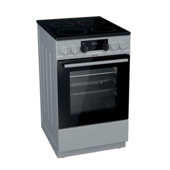 Готварска печка Gorenje EC5341SG, клас А, 70 л. обем на фурната, 4 HiLight нагревателни зони, AquaClean почистване, система за сигурност, инокс image