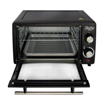 Малка готварска фурна ZEPHYR ZP 1441 R, 12 л, таймер, тавичка, 1200W, черна image