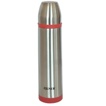 Термос Zilner ZL 4307, 800 ml, неръждаема стомана, удароустойчив, дизайн с двойни стени, вакуумна изолация, инокс image