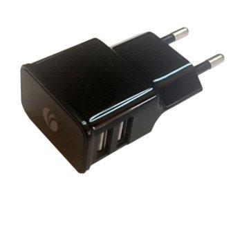 Зарядно устройство VCom DC528, AC/2A, 2xUSB, 5V image