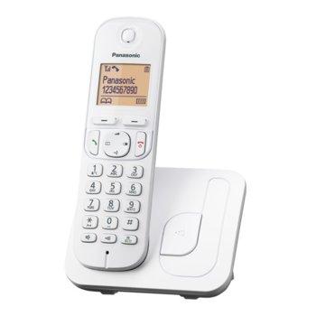 """Безжичен телефон Panasonic KX-TGC210 FXW, 1.6""""(4,06) LCD дисплей, бял image"""