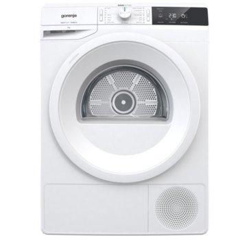 Сушилня Gorenje DE72/G 730016, 7 кг. капацитет, 16 програми, свободностояща, 60 cm. ширина, с термопомпа, LED дисплей, бяла image
