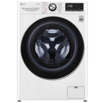 Пералня със сушилня LG F4DV910H2, клас A, 9 кг. капацитет на пералня/ 7 кг. на сушилня, 1400 оборота, 14 програми, 16 бр. допълнителни опции, свободностояща, 60 cm ширина, бяла image