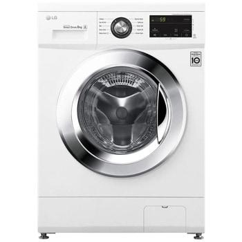 Перална машина LG F4J3TN5WE, A+++, 8 кг. капацитет, 1400 оборота в мин, 10 програми на пране, свободностояща, 60сm ширина, 6 MOTION технология, Smart Diagnosis, отложен старт, бяла image