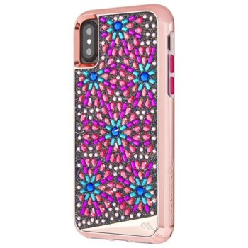 Калъф за Apple iPhone XS, хибриден, CaseMate Brilliance CM036278, розов image