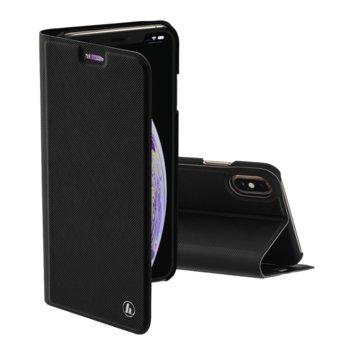 Калъф за Apple iPhone XS Max, полиуретан, тип Flip Wallet, Hama Slim Pro, черен image