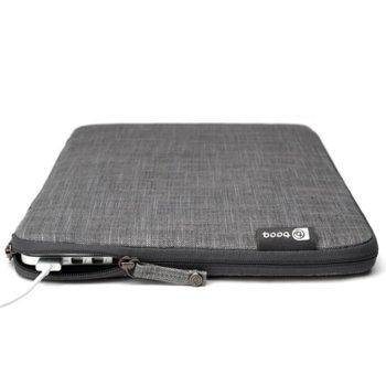 """Калъф Booq Mamba 12 Sleeve за MacBook и преносими компютри до 12"""", текстилен с цип, """"тип джоб"""", сив. image"""