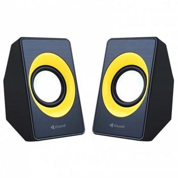 Аудио система Kisonli A-303, 2.0, 2x3W, USB захранване, 3.5mm jack image