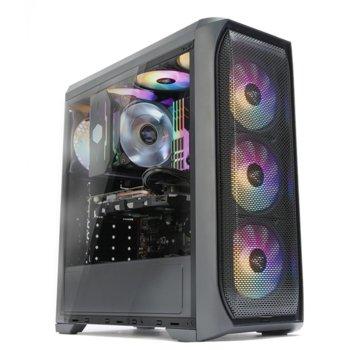 Кутия Zalman N5 MF, ATX/Micro-ATX/Mini-ITX, 1x USB 3.0, 4x RGB Spectrum вентилатора, черна, без захранване image