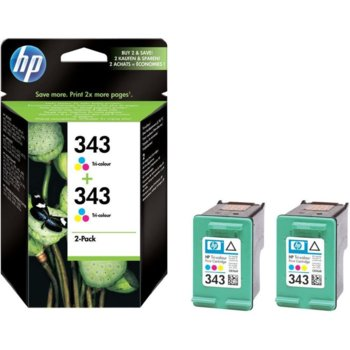 КОМПЛЕКТ HEWLETT PACKARD PSC2355/PSC1510/Photosmart 2610/2710/Officejet 7310/7410 - Color - Twin pack C8766EE - P№ CB332EE image