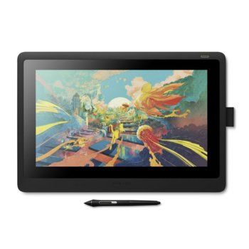 Графичен таблет Wacom Cintiq 16 (DTK1660K0B), Full HD дисплей, 5080 lpi, 8192 нива на натиск, черен image