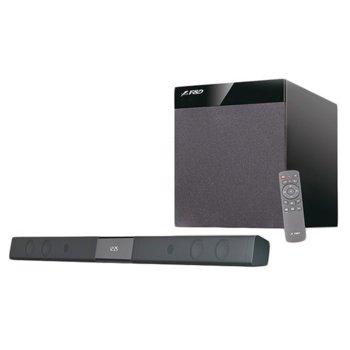 Soundbar система за домашно кино система Fenda T-360X, 2.1, безжична, Bluetooth, RMS 80W, черна image