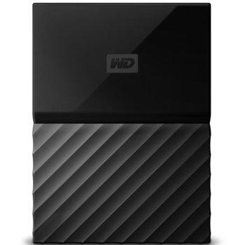 """Твърд диск 2TB Western Digital My Passport (черен), външен, 2.5"""" (6.35 cm), USB 3.0 image"""