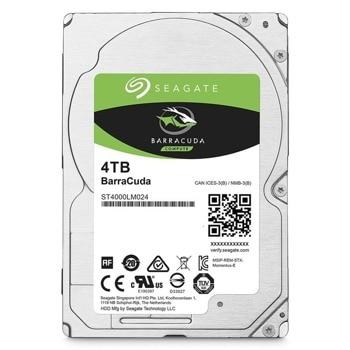 """Твърд диск 4TB Seagate BarraCuda SATA 6Gb/s, 5400 rpm, 128MB кеш, 2.5"""" (6.35cm), височина 1.5 cm image"""
